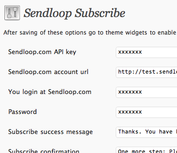 Sendloop WordPress plug-in