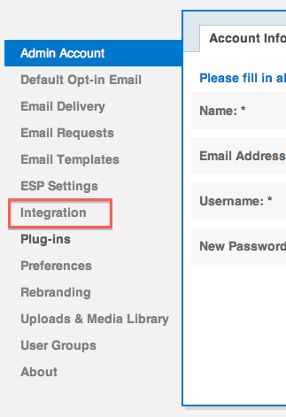 Integrations Option